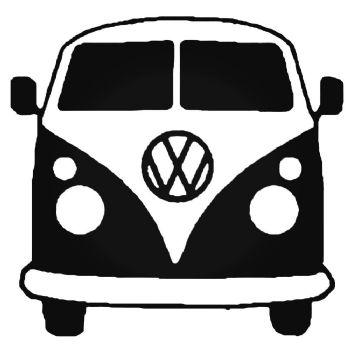VW CAMPER Vinyl Car Sticker VW Van  Hippy Decal LARGE 200mm x 192mm